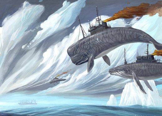 各种动物鱼类像插了翅膀